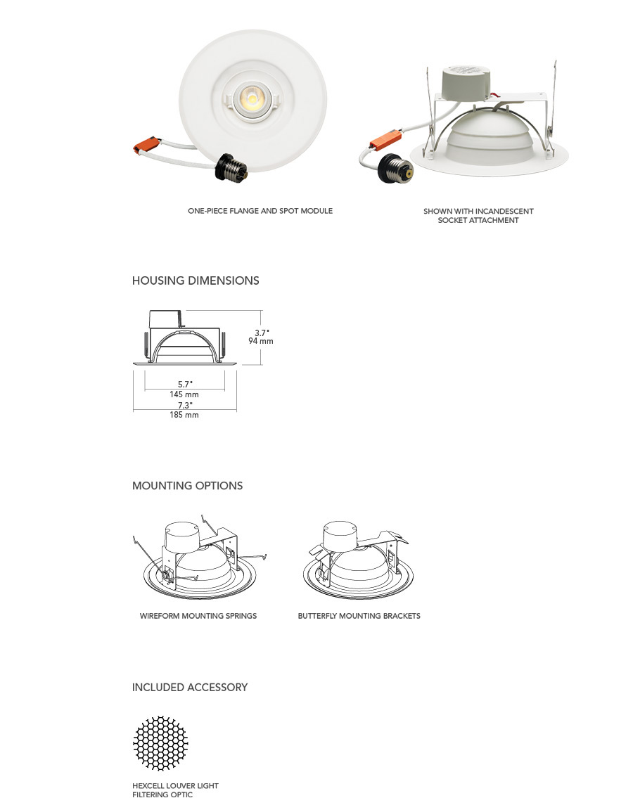 6 u0026quot  led adjustable retrofit downlight element lighting led street light wiring diagram